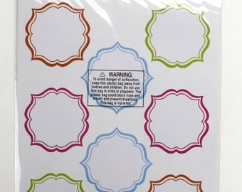 3 sheets of round dry/wet erase Label stickers total 16 stickers . Great for primitive packing, decorations, crafts. (CBL852)