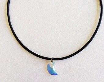 Swarovski Crystal Moon Necklace