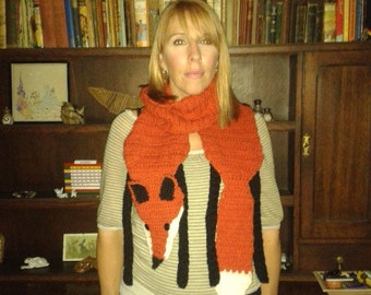 CROCHET FOX SCARF pdf crochet pattern