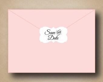 Save the Date Envelope Seals Ornate Custom Save the Date Labels Wedding Invitation Envelope Seals Save the Date Sticker Save the Date ideas