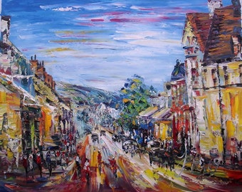 MAIN STREET, Slateford Village, Edinburgh UK-Pen King-94
