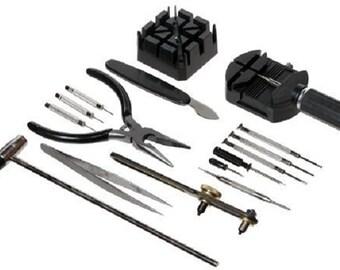 Watch Repair Tool Kit 16 PC Pin Tools Case Opener And More