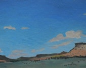 Southwest Landscape Painting on Paper  - San Rafael Swell Mesas - Utah Landscape  Shelley Hull