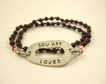 SALE-You Are Loved Hand Knotted Bracelet