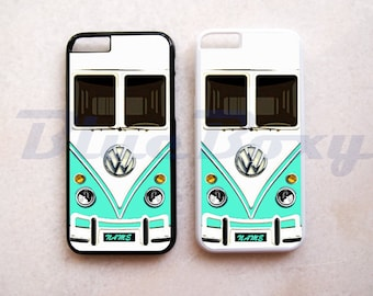 Mini Bus Mint iPhone 8, 8 Plus, iPhone X, iPhone 7, iPhone 7 Plus, iPhone 6 Case, 6s, iPhone 6 Plus, 6s Plus, iPhone 5/5s, iPhone 4/4s