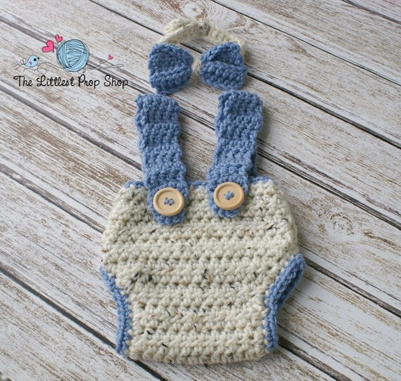 Ready to ship-Crochet diaper cover suspenders by ...