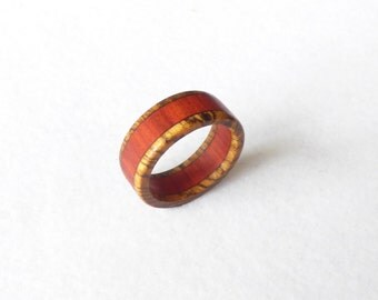 zembrano & red heart wood ring
