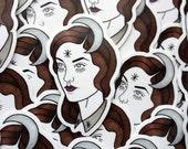 Moon Spook Vinyl Sticker