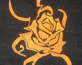 Tribal Rose 4 Quilt Applique Pattern Design