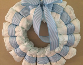 Diaper Wreath-boys