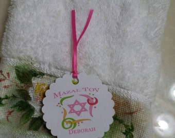 Personalized Favor Tags 2 1/2'', Bat Mitzvah  tags, Thank You tags, Favor tags, Gift tags,