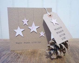 Handmade 'Twinkle twinkle' greetings card