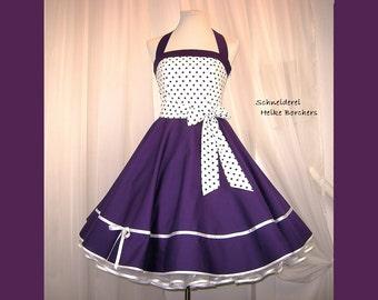 Petticoat dress Maritim dance dress purple