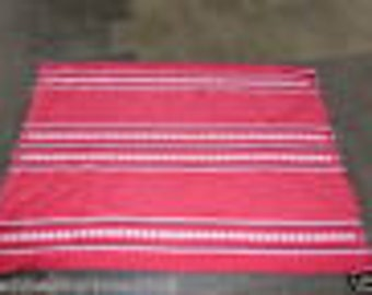 ON SALE TABLECLOTH  vintage 1960/1970,  red, white and black