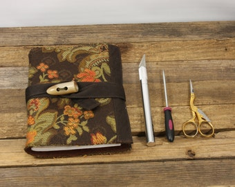 Floral fabric bound, Inspiration journal