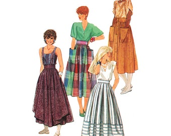 Simplicity Sewing Pattern 6338 Misses' set of Skirts Used