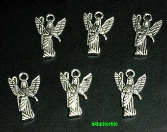 "Lot of 24pcs Antique Silver Tone ""Angel"" Metal Charms. #BC3101."