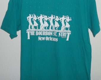 Vintage Bourbon Street Strut, New Orleans Shirt 1988, Size Medium