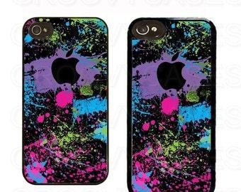 iPhone 4 4s 5 5s 5c Case Rubber Paint Splatter