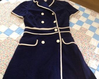 Vintage Navy Blue Romper Giancarlo Mad Men Dress up