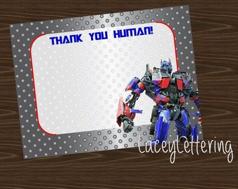 Transformers Autobots Choose Your Character Thank You Optimus Prime Bumblebee DIY