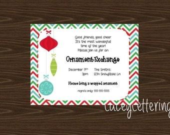 Christmas Ornament Exchange Invitation