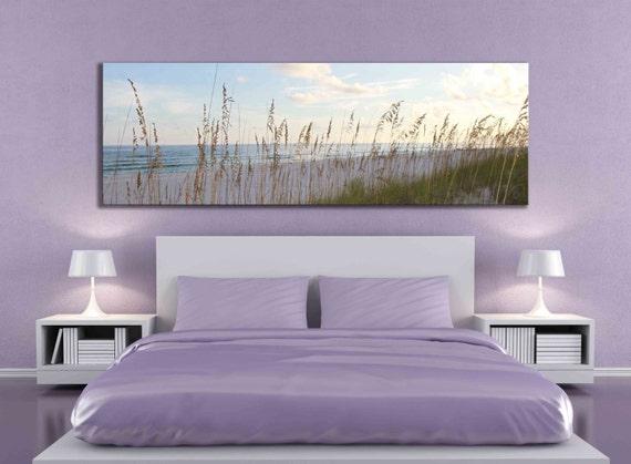 grande toile panoramique plage sable oc an mer avoine. Black Bedroom Furniture Sets. Home Design Ideas