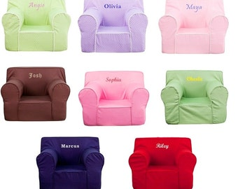 Large Kids Personalized Foam Arm Chairs