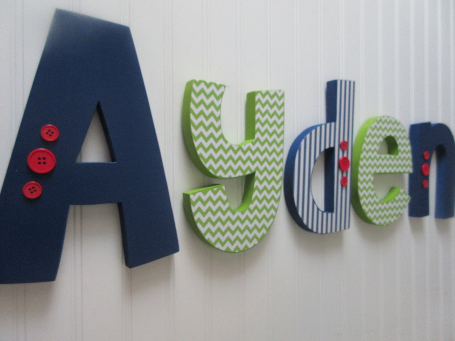 nursery letters baby boy wooden letters navy blue lime green With wooden letters for boy nursery