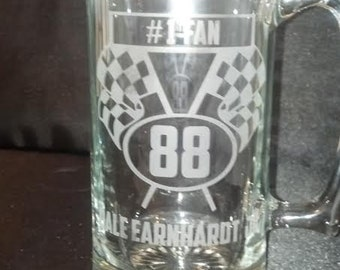 Favorite Race Car Driver,  27 ounce Etched Mug