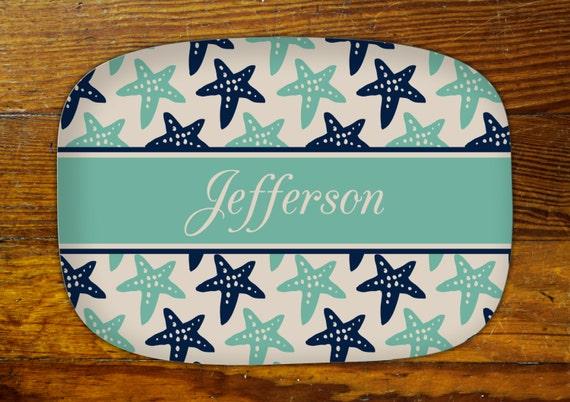 Personalized Serving Platter-starfish