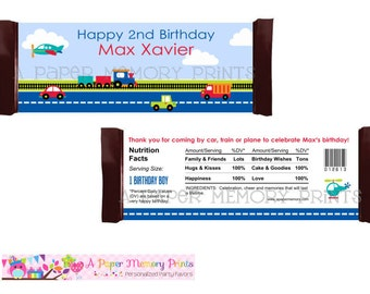 Transportation Candy Wrapper - DIY Printable