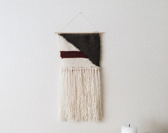 Red Brown and Cream Wall Hanging