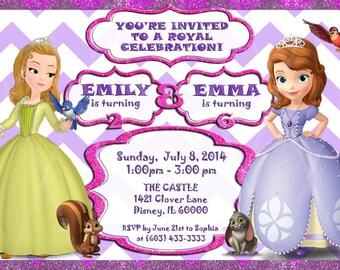 Sofía la primera invitación de cumpleaños