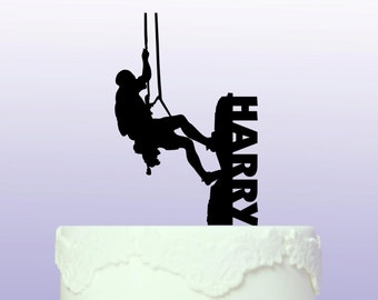 Personalised Climbing Cake Topper