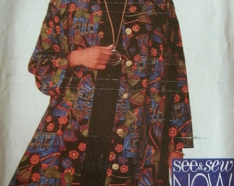 Misses Jacket, Dress Sizes 6-8-10 Butterick See & Sew Now Pattern 3887 Rated Very Easy to Sew UNCUT Pattern and Instructions Dated 1995