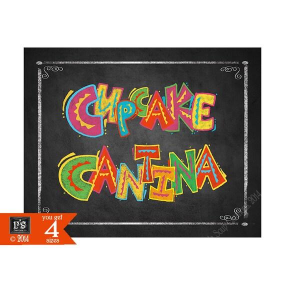 Printable Fiesta Cupcake Cantina Dessert Bar Sign In