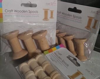 Wooden Spools, cotton spools - craft supplies.