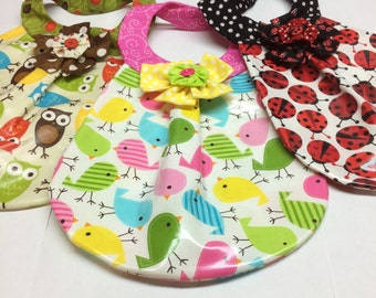 Cute Laminated Baby Bib!!