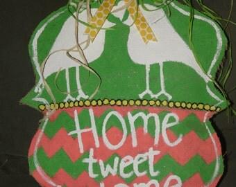 Home Tweet Home doorhanger