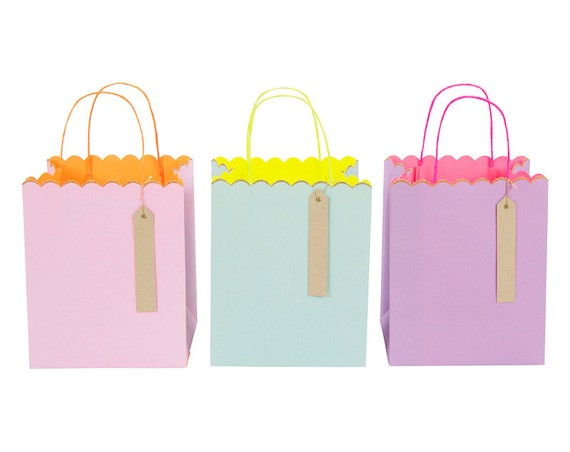 Medium Neon Bag And Neon Medium Gift Bags