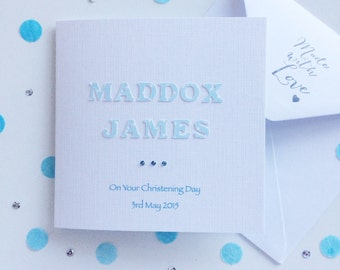 Christening Card ~ Personalised