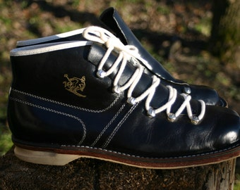 Vintage leather cross-country skiing boots