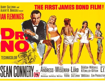 James Bond Dr. No A4 Movie Poster Unframed