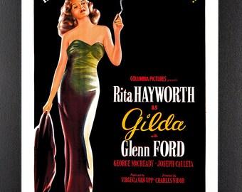 Gilda Rita Hayworth Framed A4 Movie Poster in Black Frame