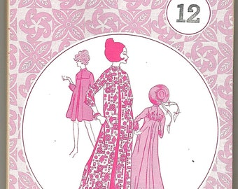 Patterns Pacifica 3015 Vintage 70s sewing pattern MuMu in different lengths uncut size 12