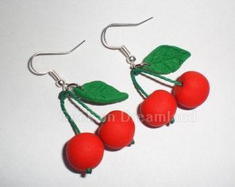 Cherries Handmade Earrings