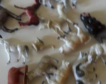 vintage plastic animal toys