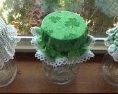 3 Green St. Patrick's Day Variety Pack Canning Jar Bonnets/Jar Topper /Jar Lid Cover