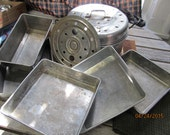 Clearance Nice Mixed Lot Antique Aluminum Baking Pans Pots Cookware Bakeware Century